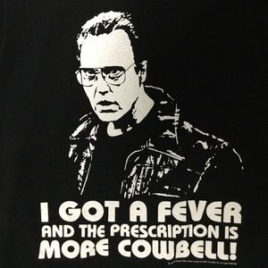 More Cowbell T Shirt Size Large
